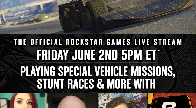 Rockstar Live Stream: GTA Online Double GTA$ Special Vehicle Races – Rockstar Games