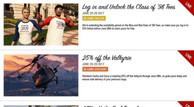 LAST DAY for these #GTAOnline bonuses including unlockable tees, vehicle discounts & more