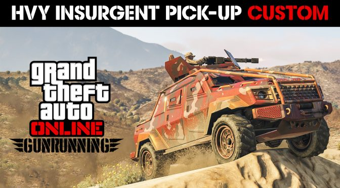 Insurgent Pick-Up Custom Now Available Plus Double GTA$ & RP Bonuses, Bunker Discounts & More – Rockstar Games