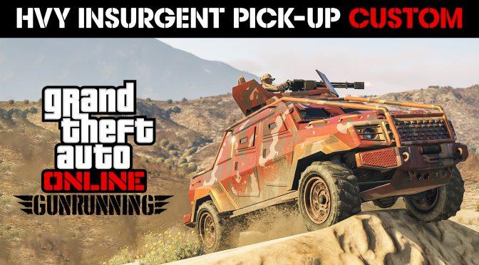 Insurgent Pick-Up Custom Now Available Plus Double GTA$ & RP Bonuses, Bunker Discounts & More – Rockstar Games