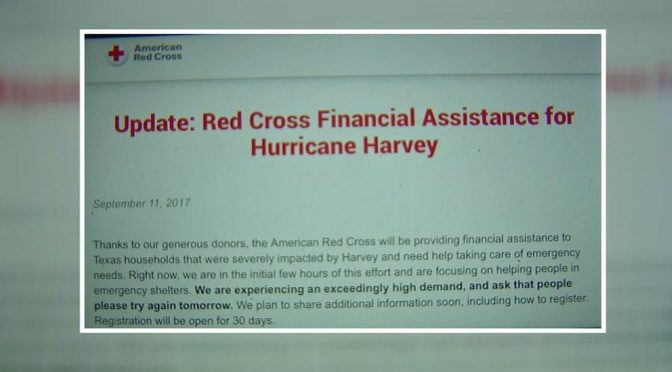 Red Cross offers financial assistance for Hurricane Harvey victims